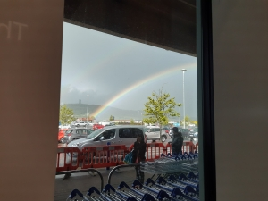 Rainbow outside Tesco